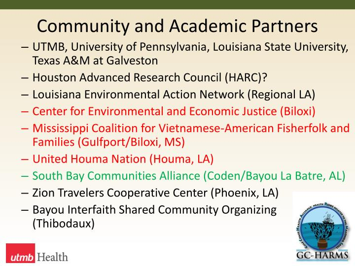 Community and Academic Partners