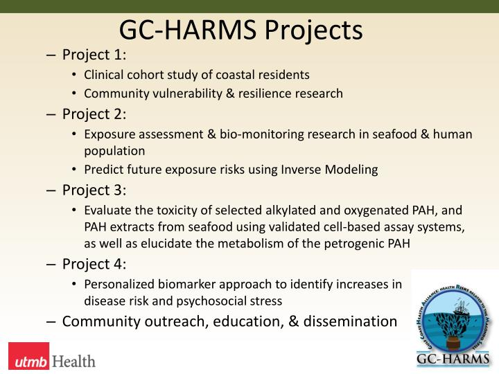 GC-HARMS Projects