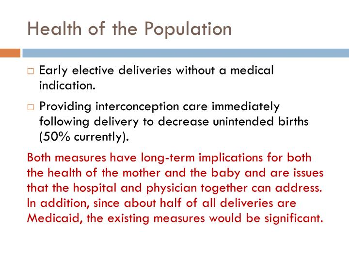 Health of the Population