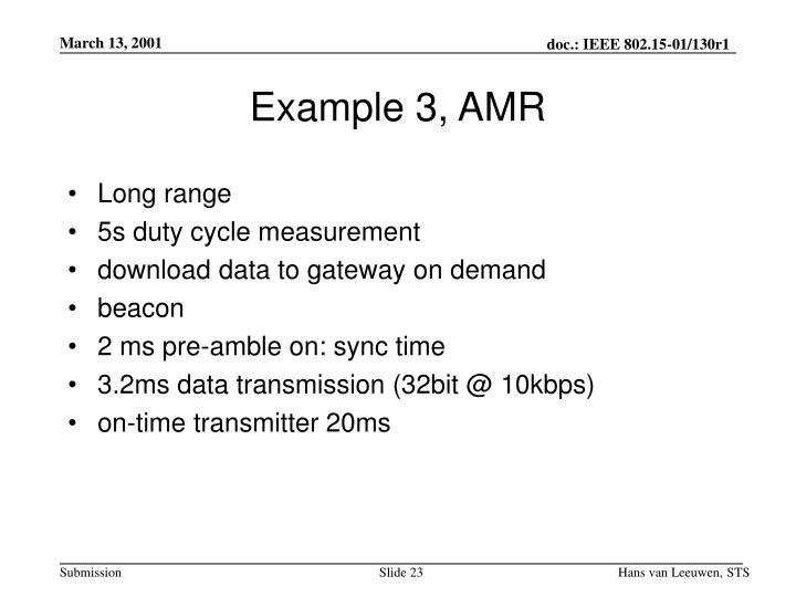Example 3, AMR