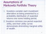 assumptions of markowitz portfolio theory