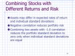 combining stocks with different returns and risk1