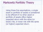 markowitz portfolio theory1