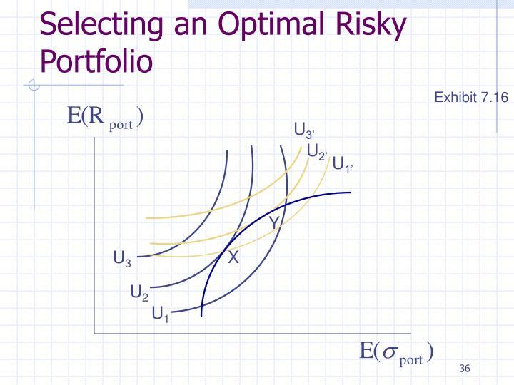 Selecting an Optimal Risky Portfolio