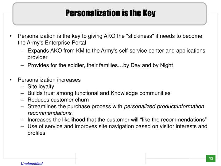 Personalization is the Key