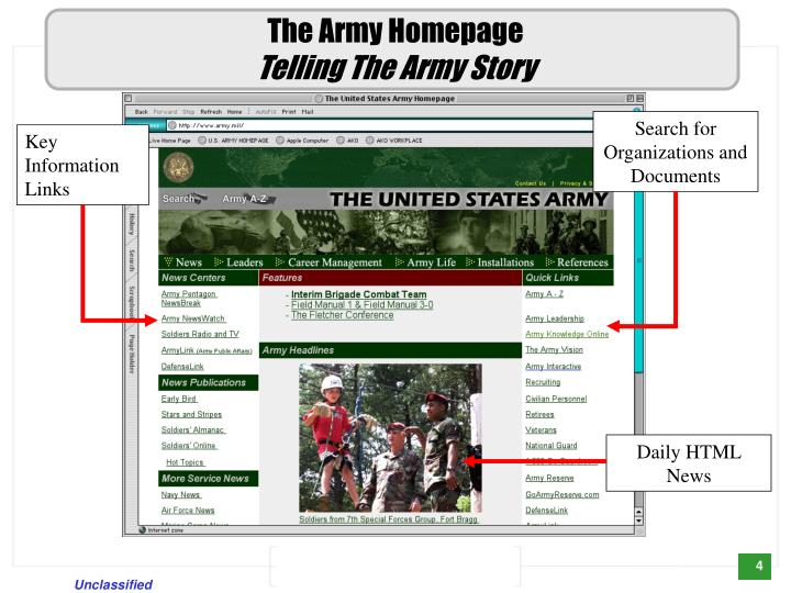 The Army Homepage