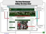 the army homepage telling the army story