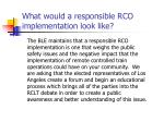 what would a responsible rco implementation look like