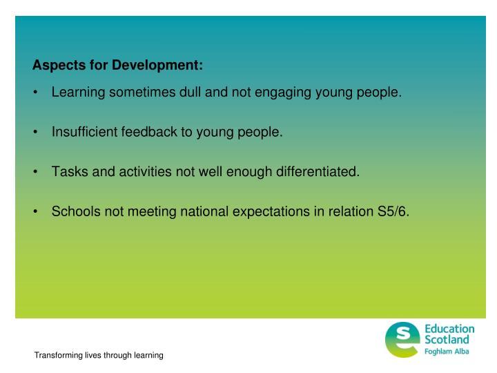 Aspects for Development: