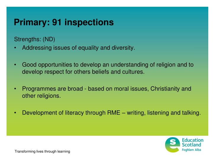Primary: 91 inspections
