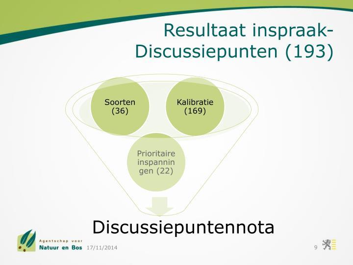 Resultaat inspraak- Discussiepunten (193)