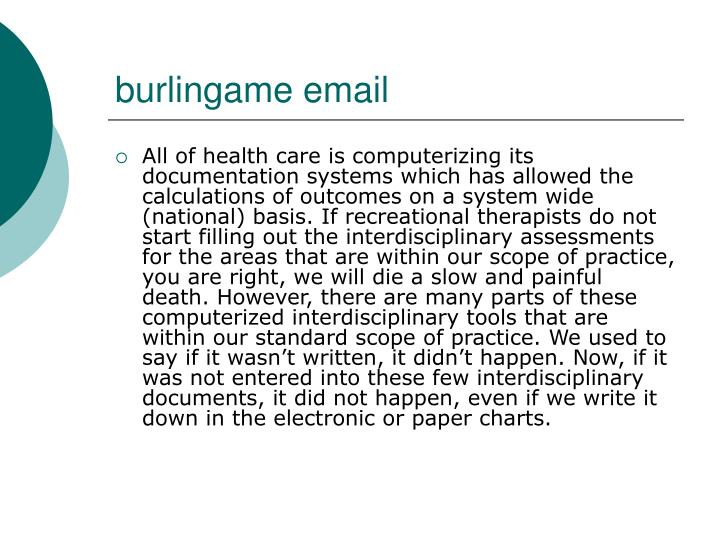 Burlingame email