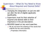 supervisors what do you need to know about required and desired skills