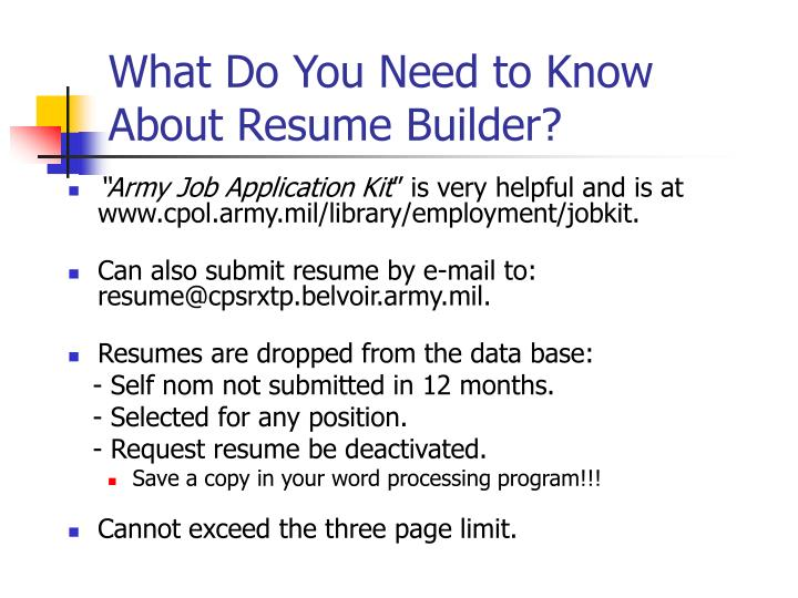 What Do You Need to Know About Resume Builder?