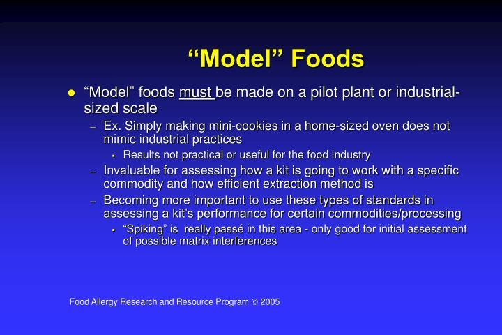 """""""Model"""" Foods"""