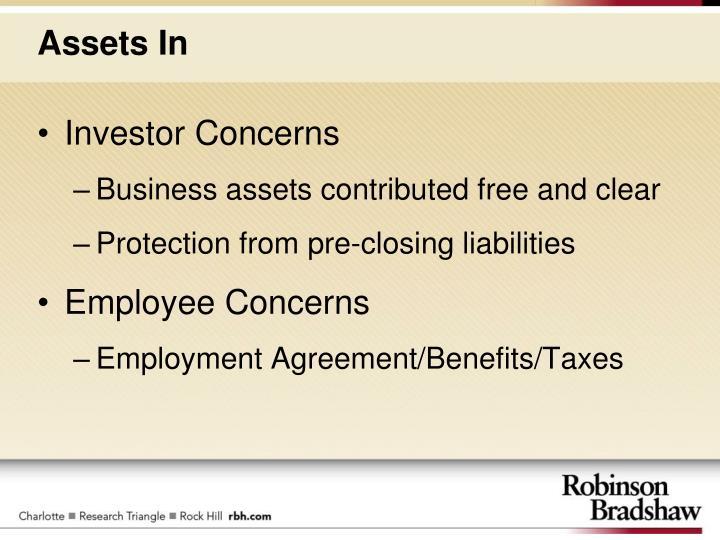 Investor Concerns