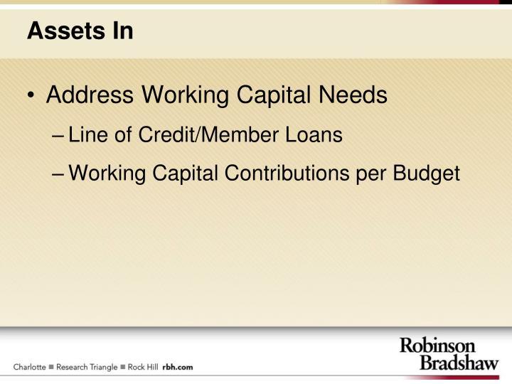 Address Working Capital Needs
