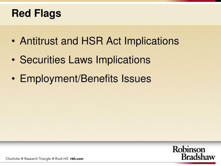 Antitrust and HSR Act Implications