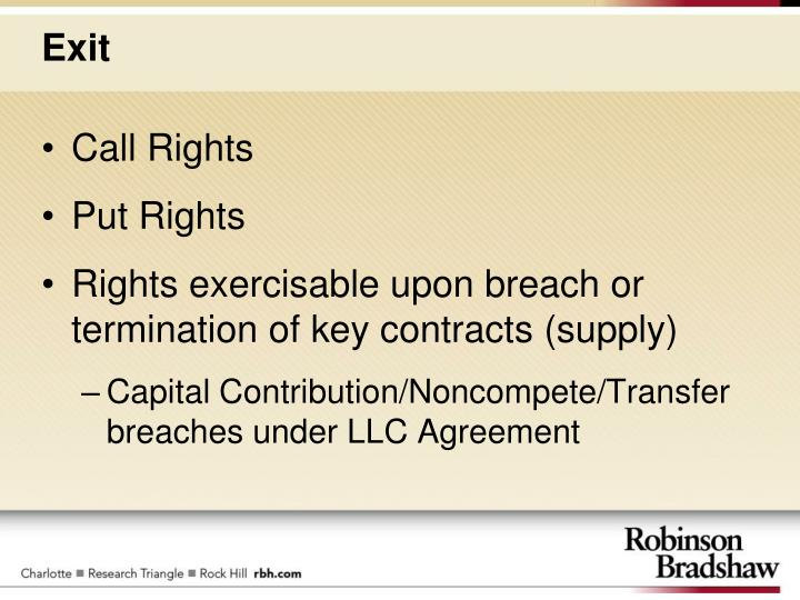 Call Rights