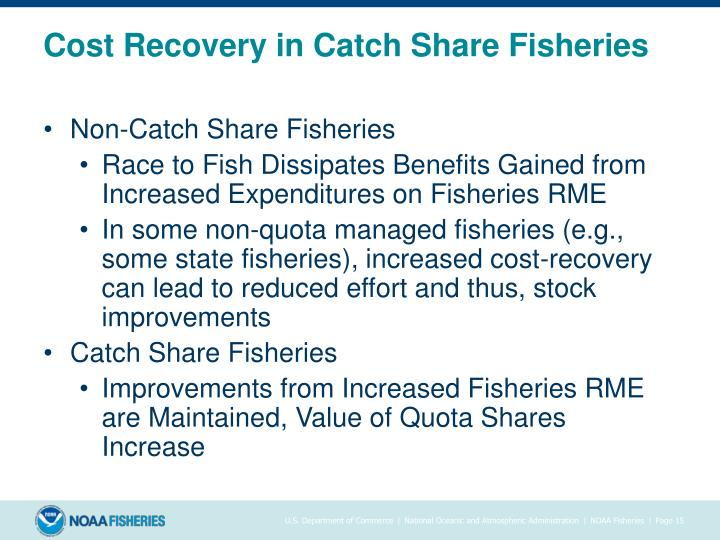 Cost Recovery in Catch Share Fisheries