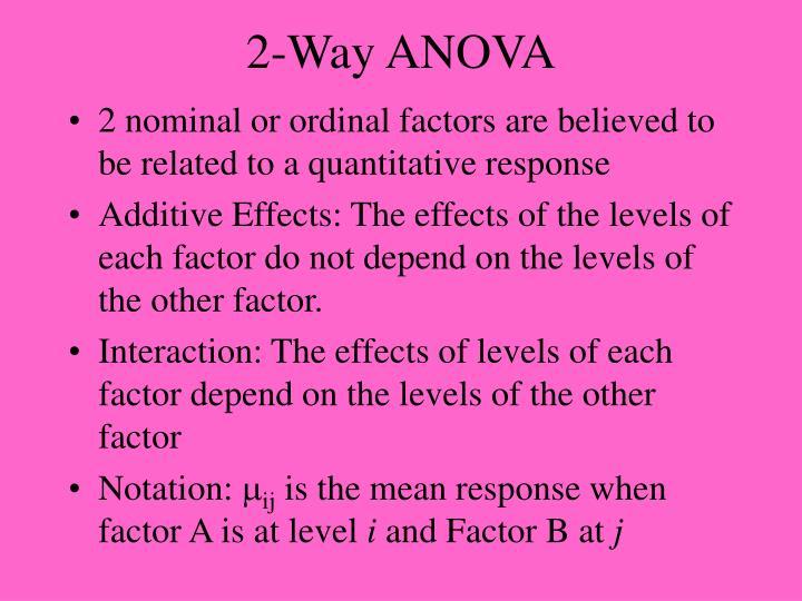 2-Way ANOVA