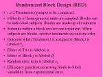 randomized block design rbd