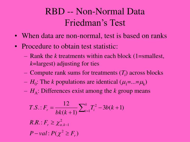RBD -- Non-Normal Data