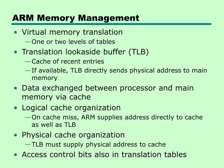 ARM Memory Management