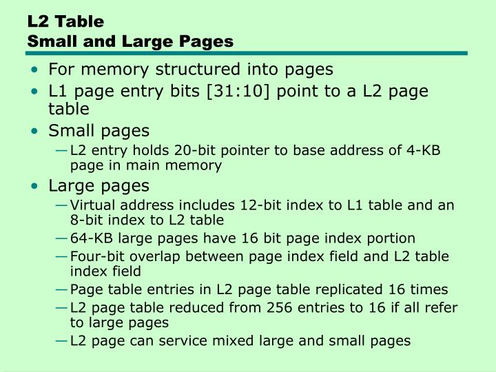 L2 Table