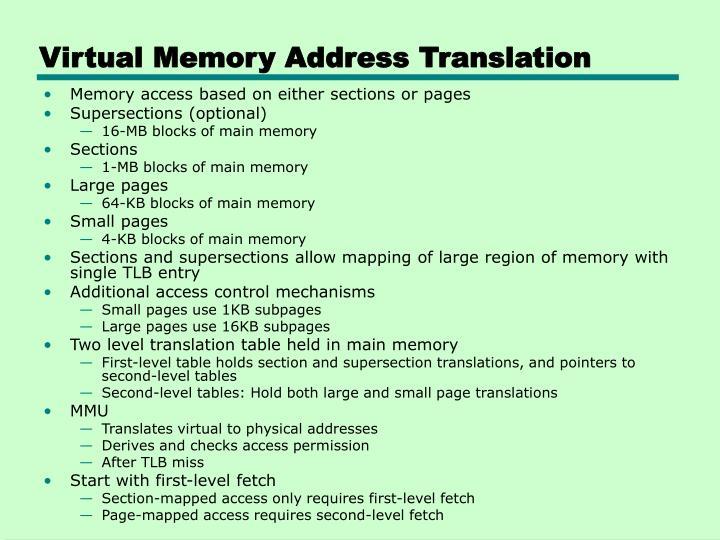 Virtual Memory Address Translation
