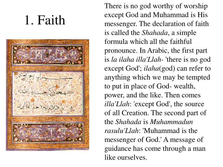 1. Faith
