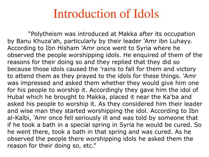 Introduction of Idols