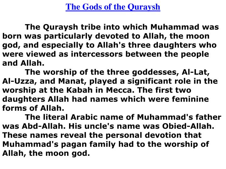 The Gods of the Quraysh