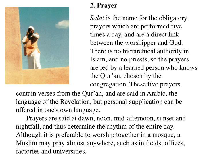 2. Prayer
