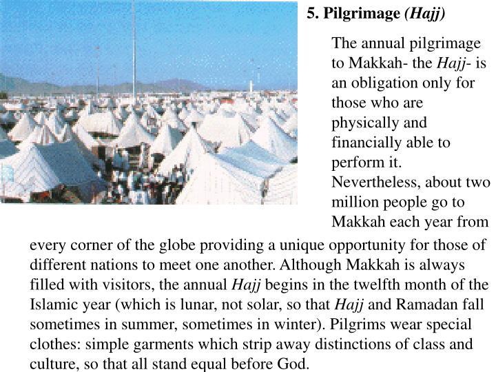 5. Pilgrimage