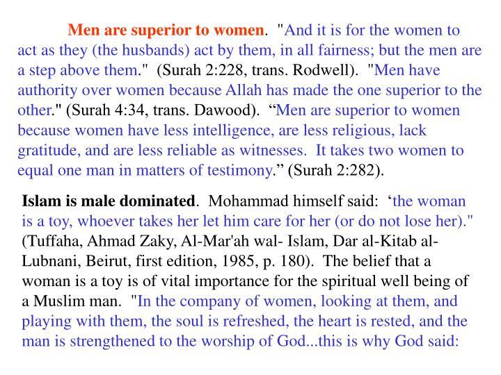 Men are superior to women