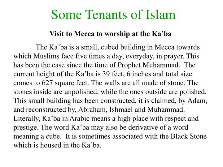 Some Tenants of Islam