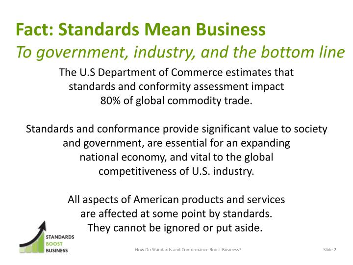Fact: Standards Mean Business