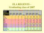 ela regents graduating class of 2007