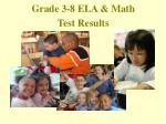 grade 3 8 ela math test results