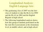 longitudinal analysis english language arts