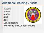 additional training visits