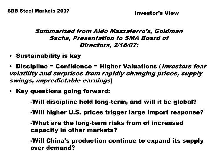SBB Steel Markets 2007