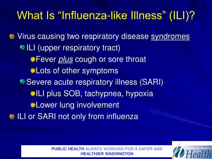 "What Is ""Influenza-like Illness"" (ILI)?"