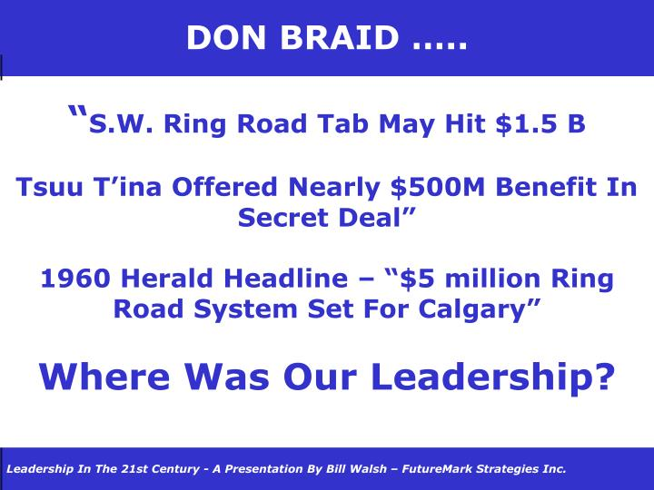 DON BRAID …..