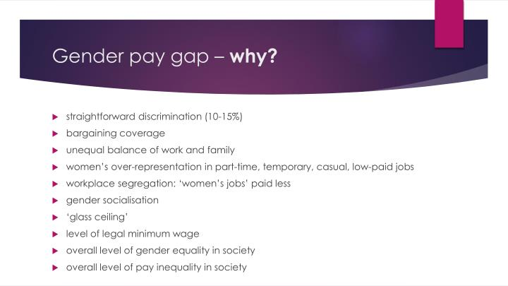 Gender pay gap –