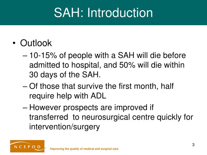 SAH: Introduction
