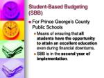 student based budgeting sbb