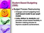 student based budgeting sbb1