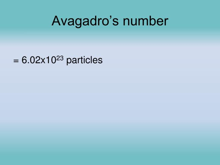 Avagadro's number